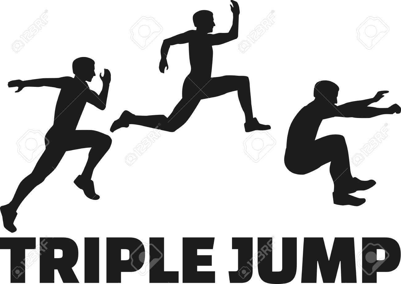 Triple Jump Clipart.