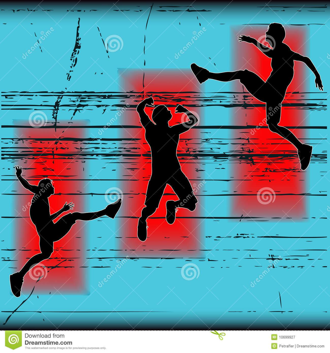 Triple Jump Stock Illustrations.