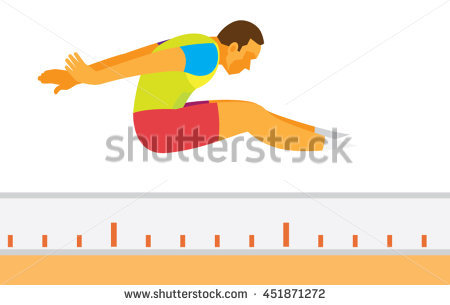 Triple Jump Stock Images, Royalty.