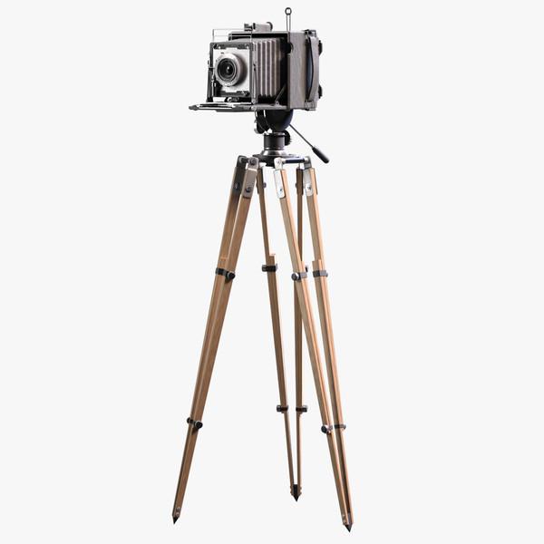 Video Camera On Tripod Clipart.