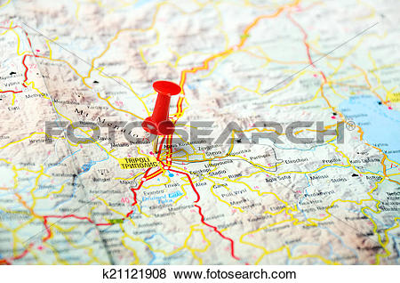 Pictures of Tripoli Greece map k21121908.