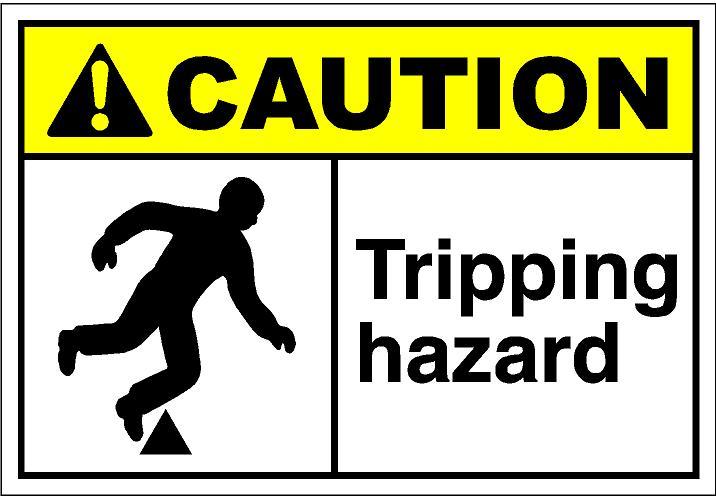 Trip Hazard Clipart.