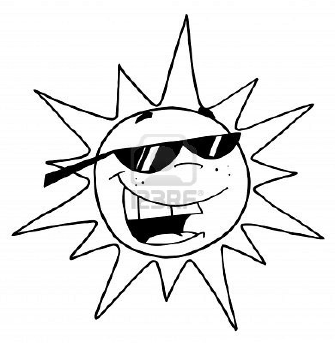 Sun Clipart Black And White.