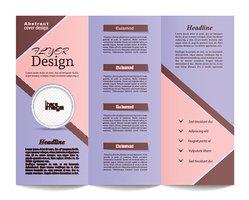Tri Fold Brochure Template Stock Vector.