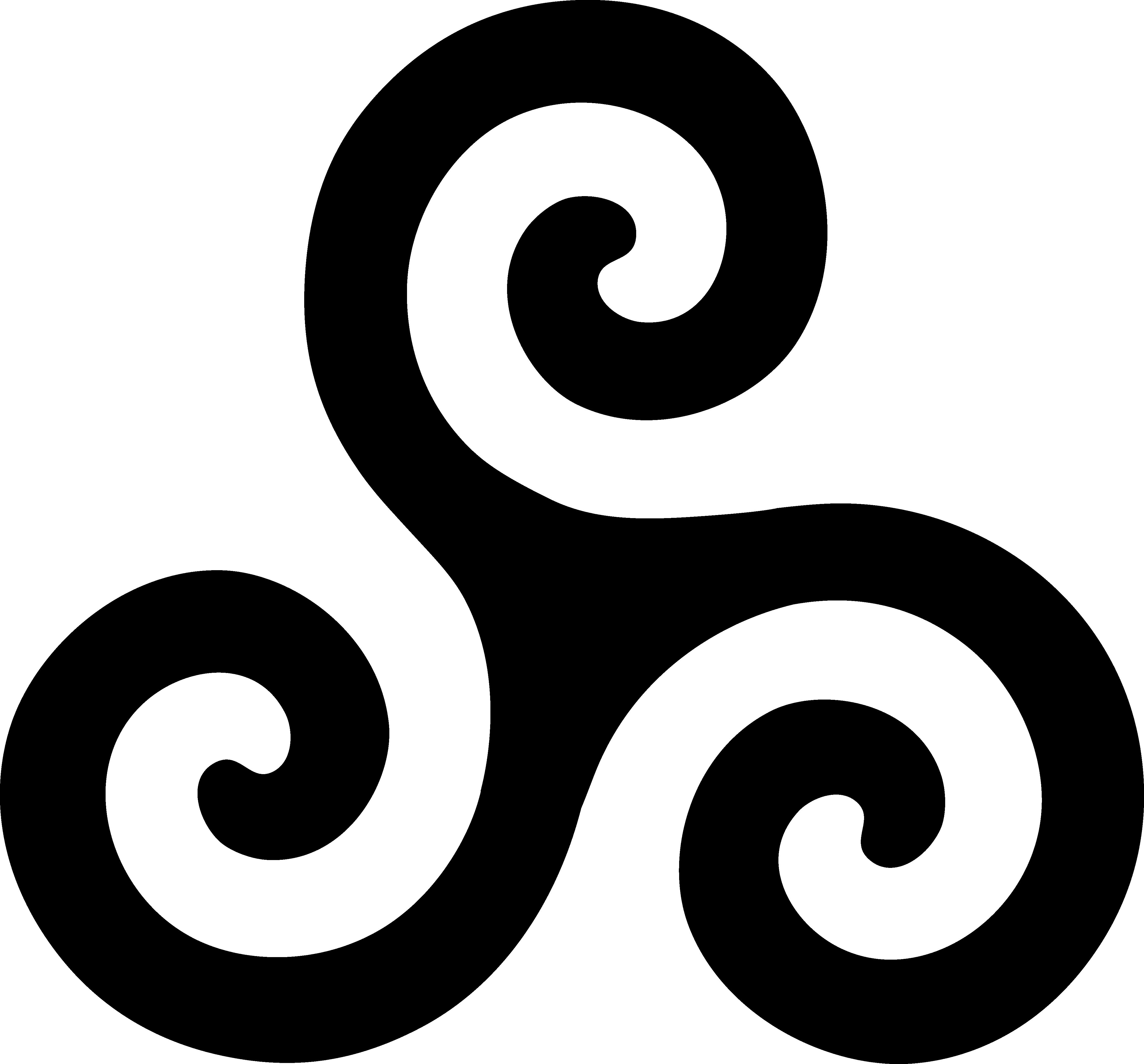 Black Triskelion Symbol.
