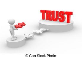 Building trust clipart.
