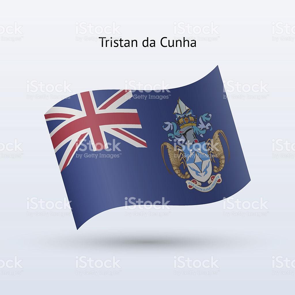 Tristan Da Cunha Flag stock vector art 166633727.