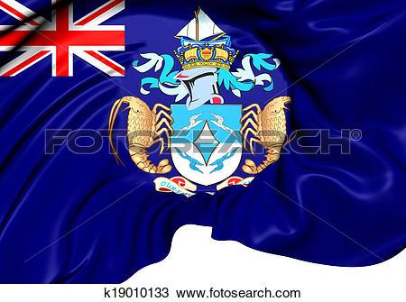 Drawing of Flag of Tristan da Cunha k19010133.