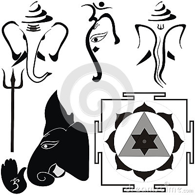 Trishul : Hindu Sign Stock Photo.