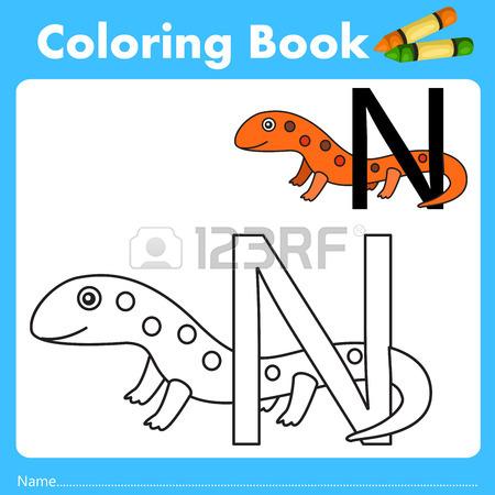 Illustratore Di Libro Di Colore Con Animali Tritone Clipart.