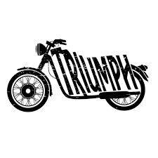 vintage triumph motorcycle logo.