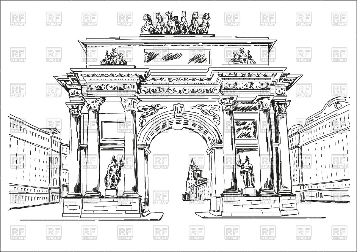 Triumphal Arch in Moscow Vector Image #97108.