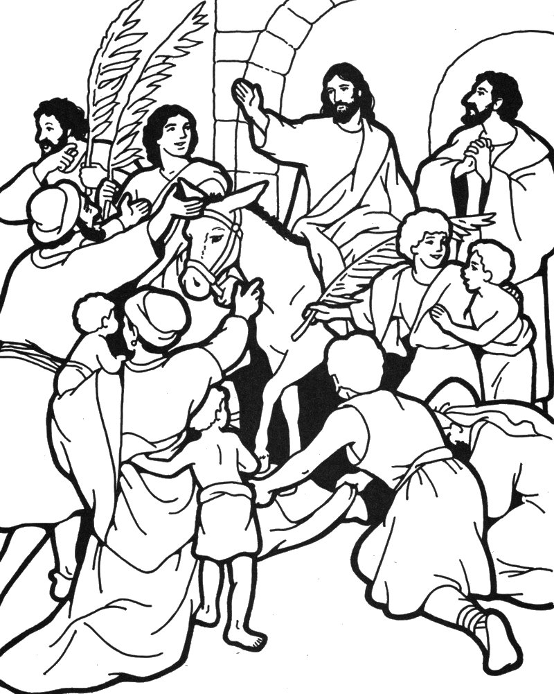 Clipart for jesus on palm sunday.