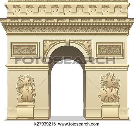 Clipart of triumphal arch k27939215.