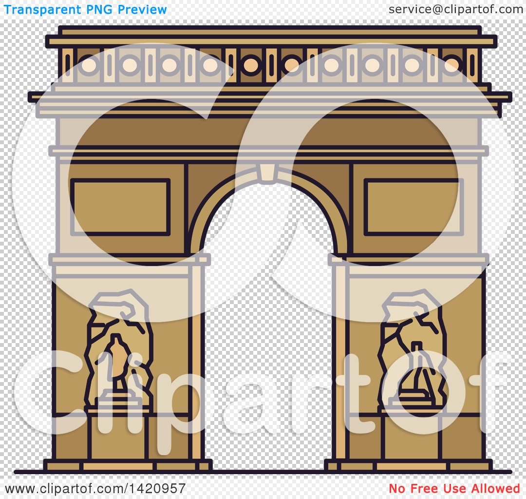 Clipart of a French Landmark, Triumphal Arch of the Star.