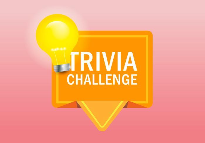 Trivia Quiz Logo Illustration.