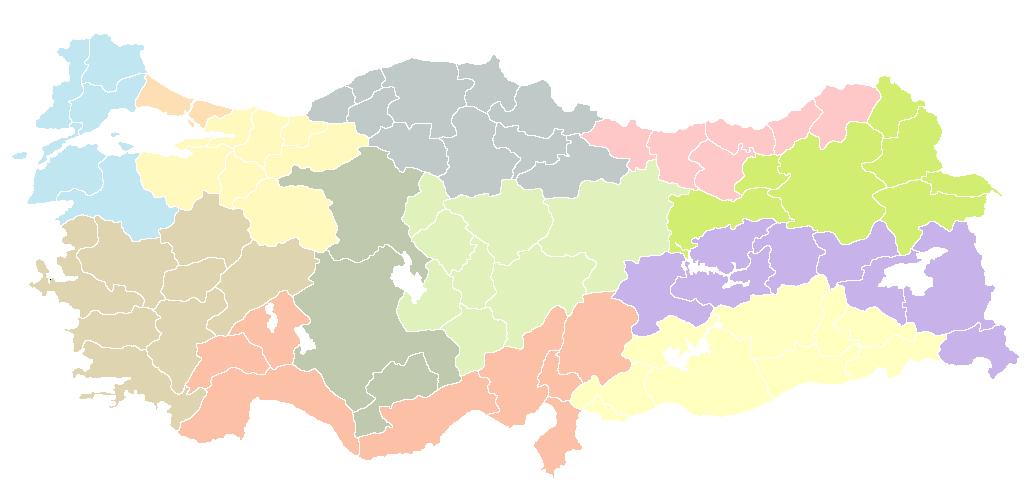 NUTS statistical regions of Turkey.