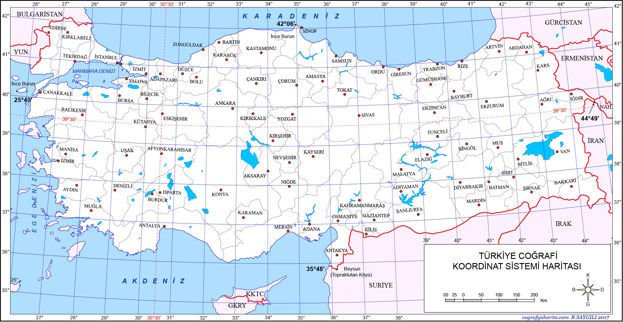 Güncel Türkçe Harita Coğrafya Gezi Tatil Outdoor ve Bilgi.