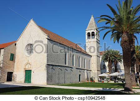 Stock Photo of St. Dominic monastery in Trogir.