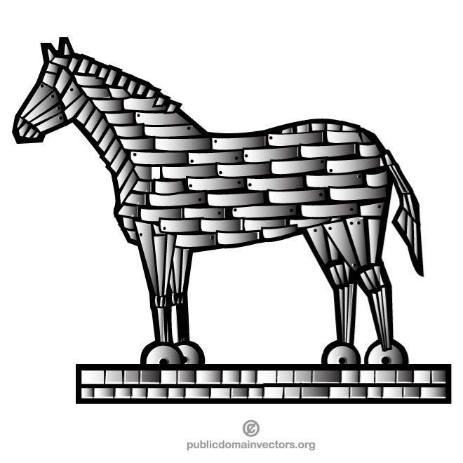 TROJAN HORSE CLIP ART.