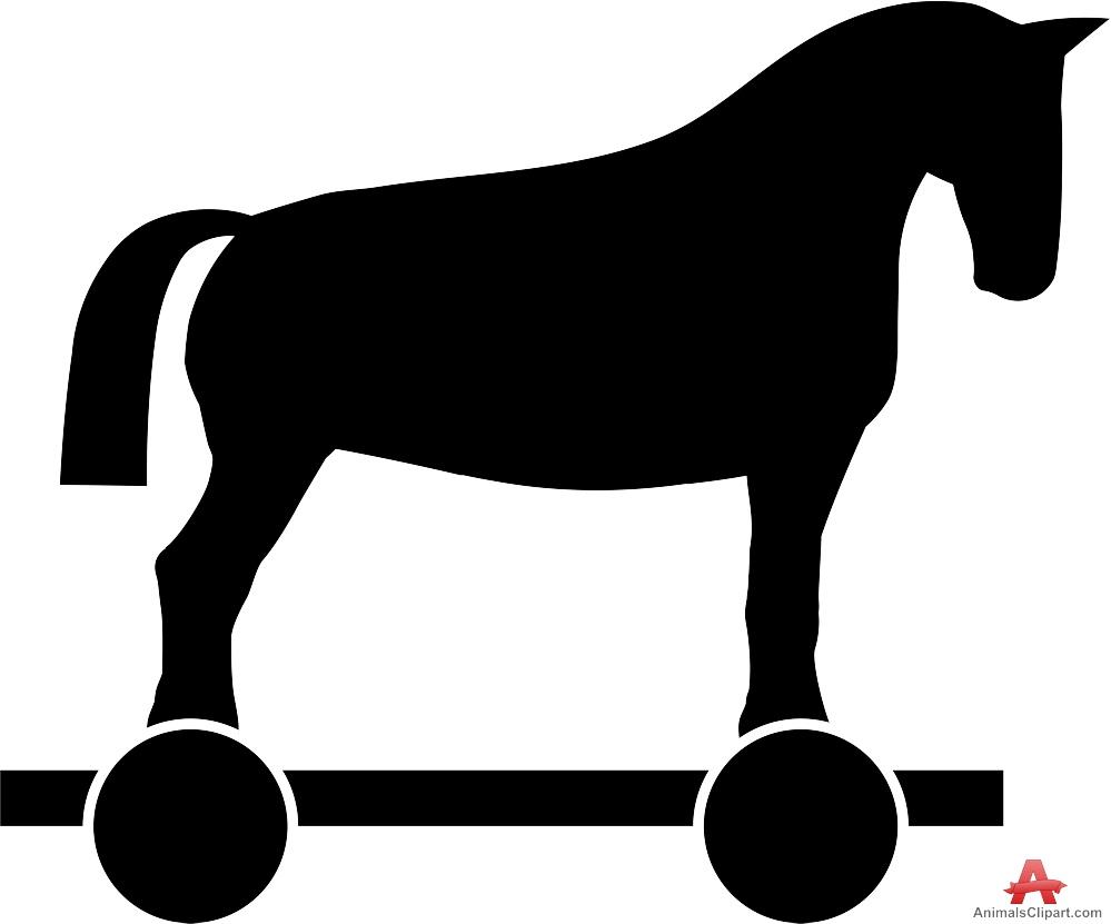 Trojan Horse on Wheels Silhouette.