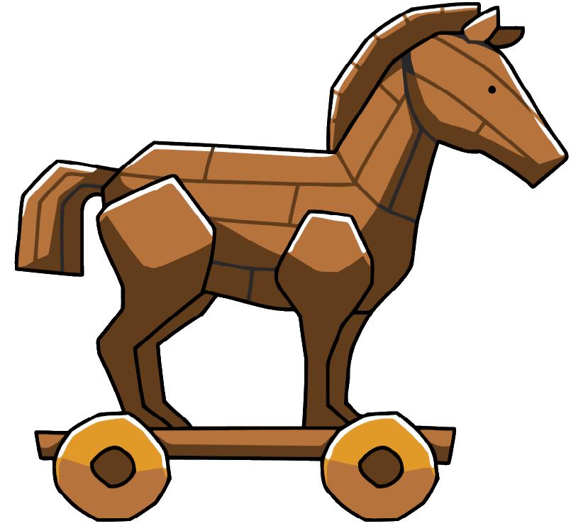 Trojan horse clipart.