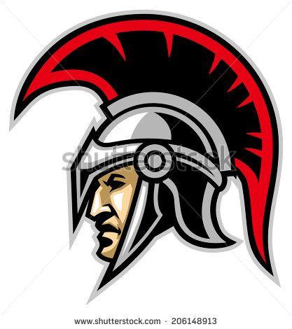 royalty free trojan warrior logo design.