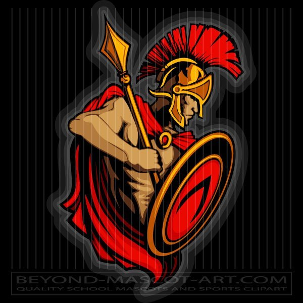 Trojan Warrior Clip Art.