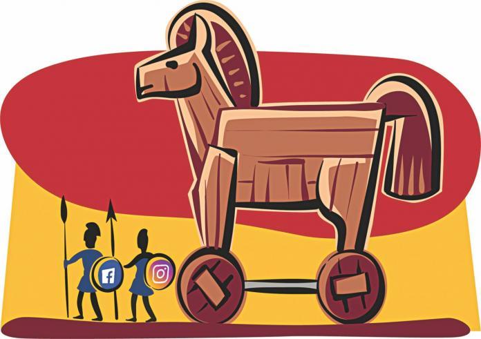 Smartphones, social media and the Trojan War.