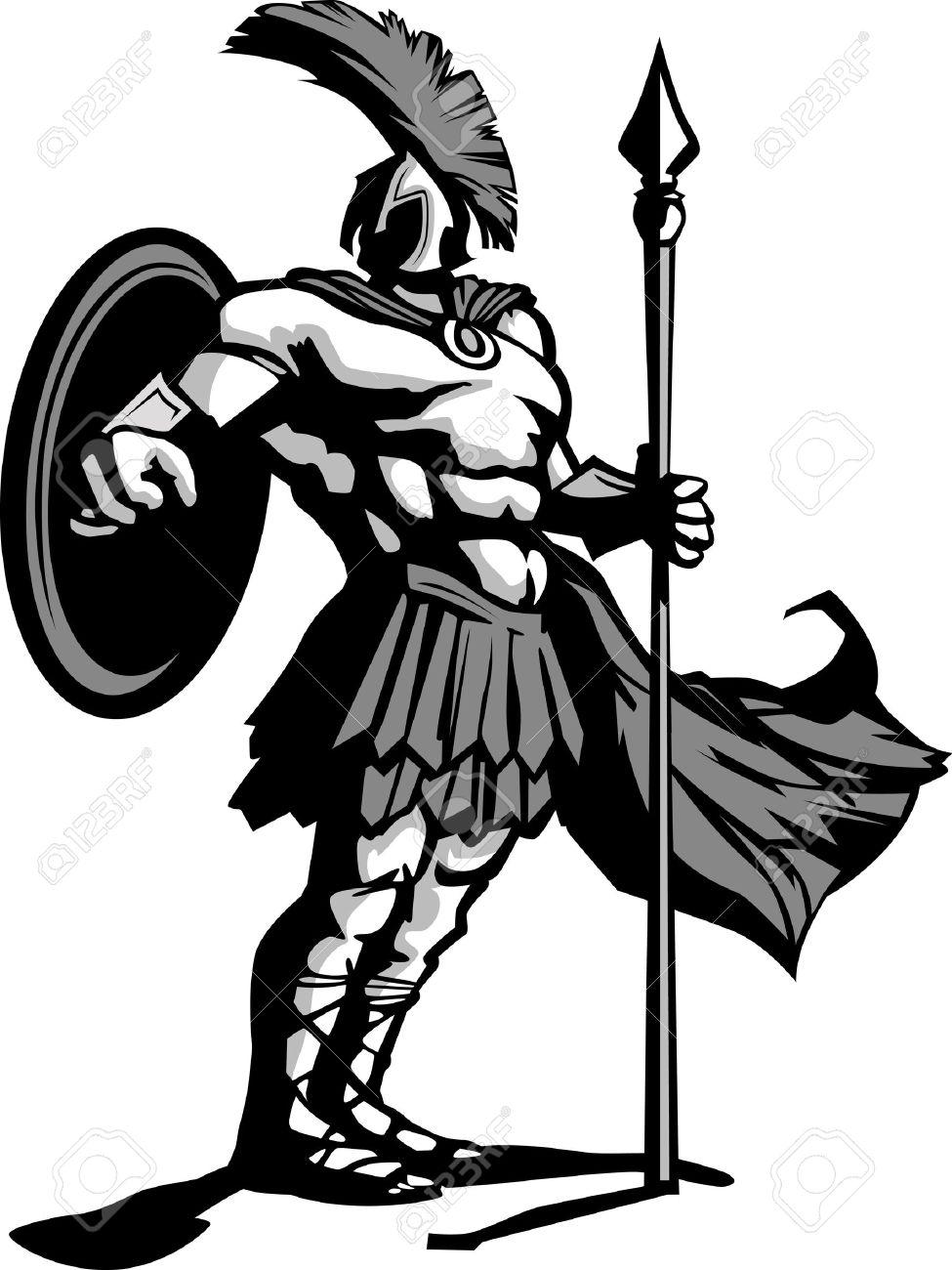 567 Spartan free clipart.