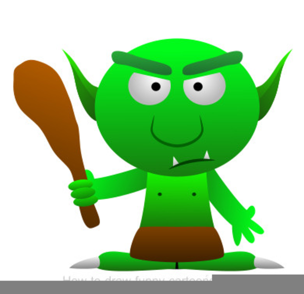 Cartoon Troll Clipart.