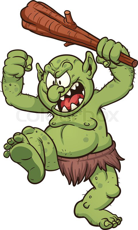 Cartoon Characters Ugly : Troll clipart clipground