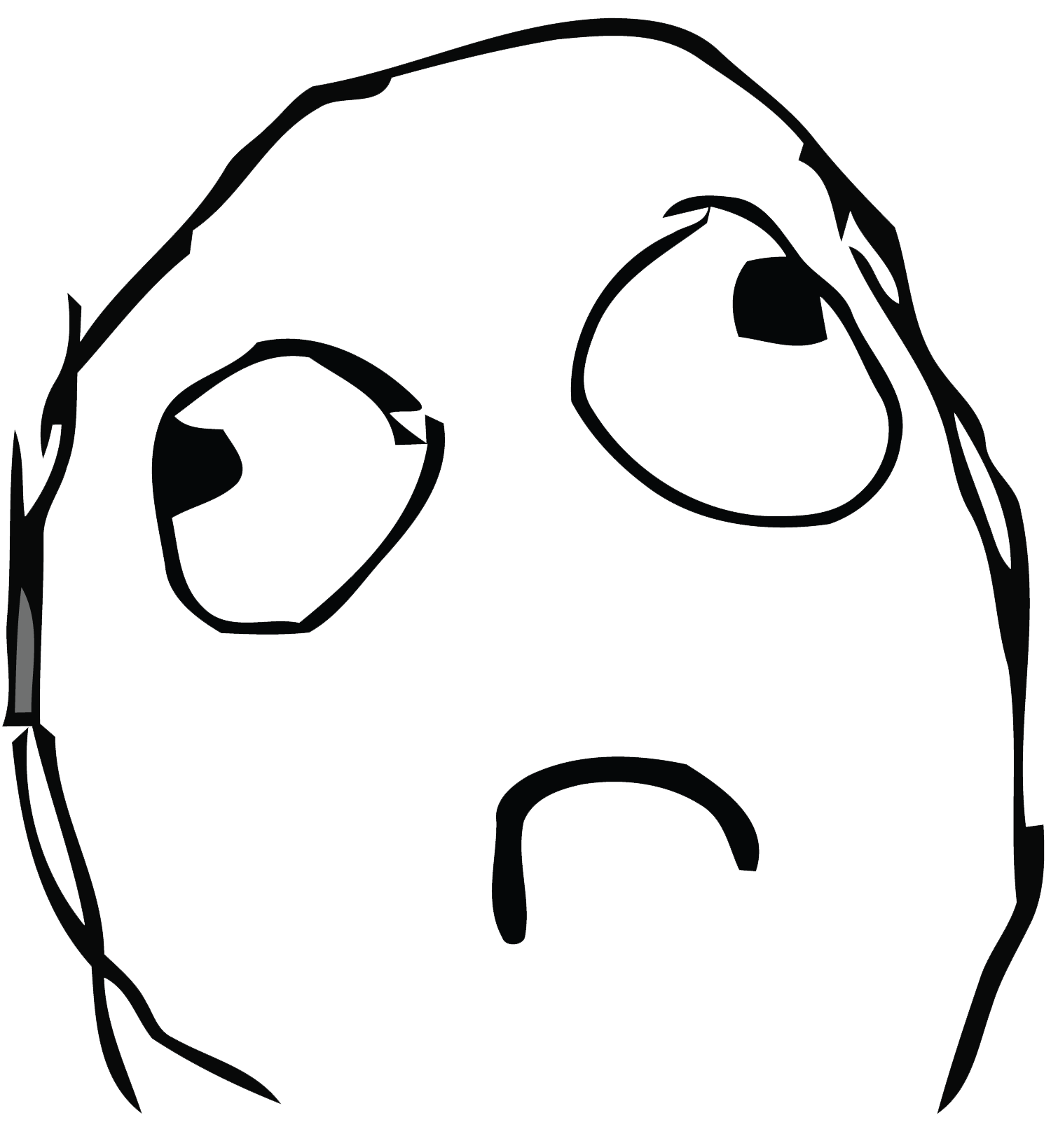 Rage Face Troll Face transparent PNG.