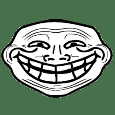Simple Sad Troll Face transparent PNG.