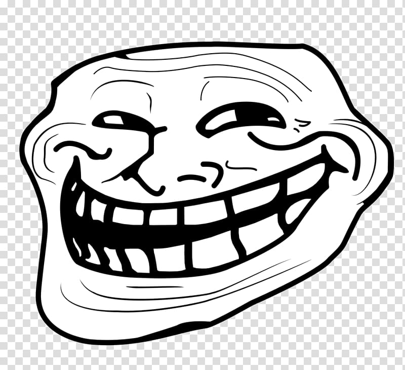 Trollface transparent background PNG clipart.