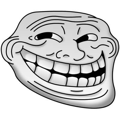 Troll Face transparent PNG images.