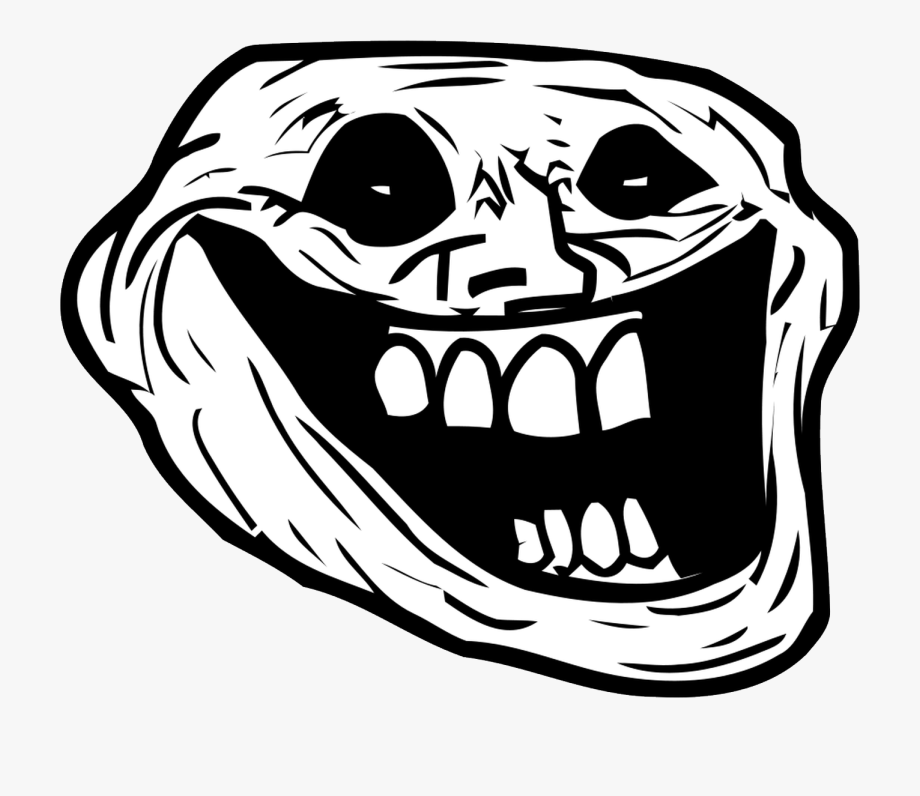 Troll Face Png Clipart.
