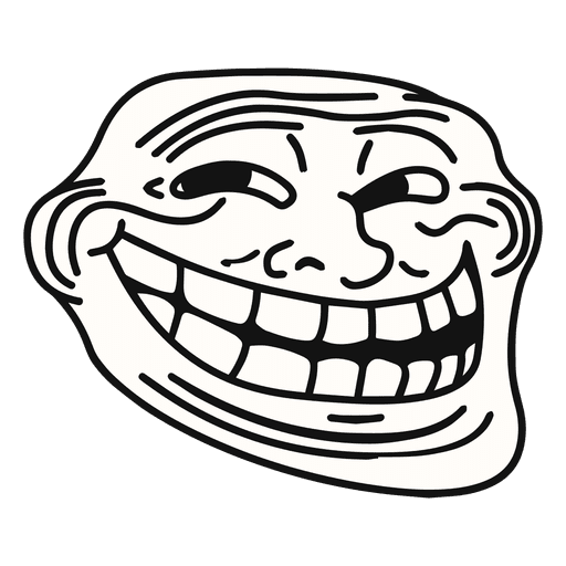 Trollface Transparent Background Png Vector, Clipart, PSD.