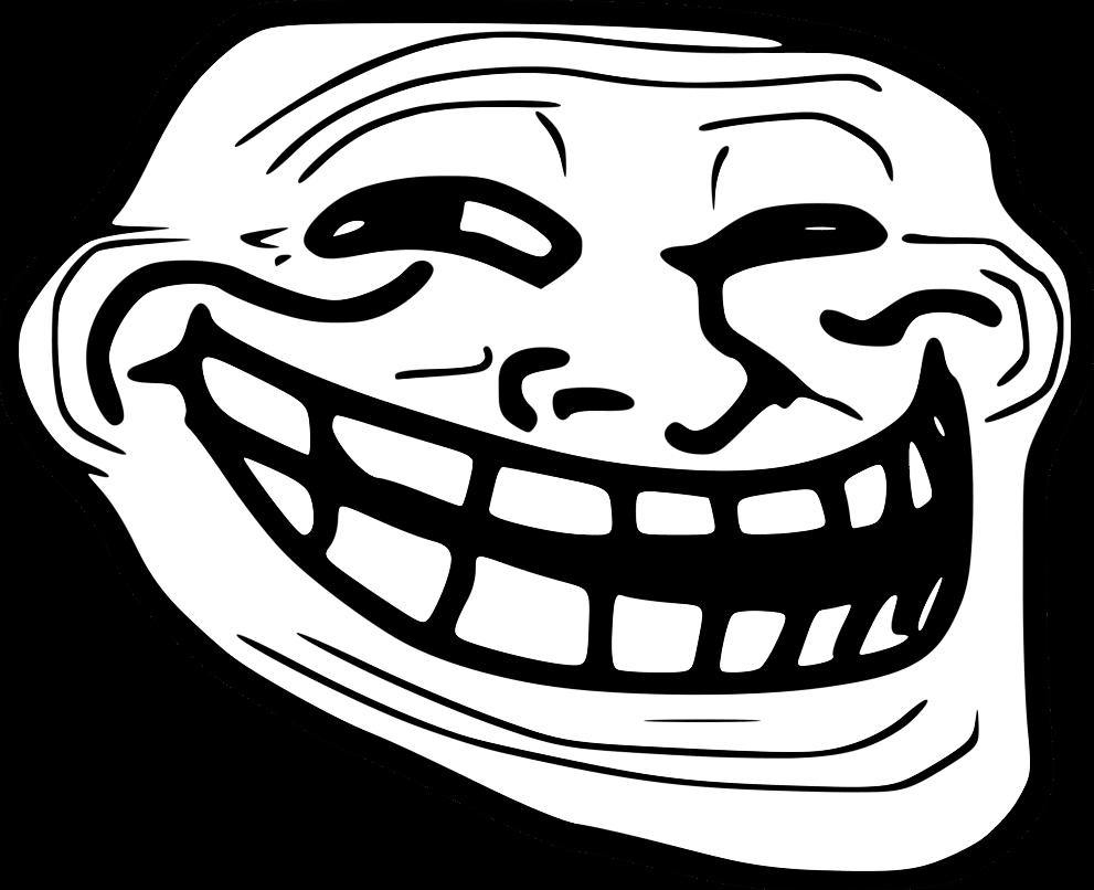 Large Troll Face transparent PNG.