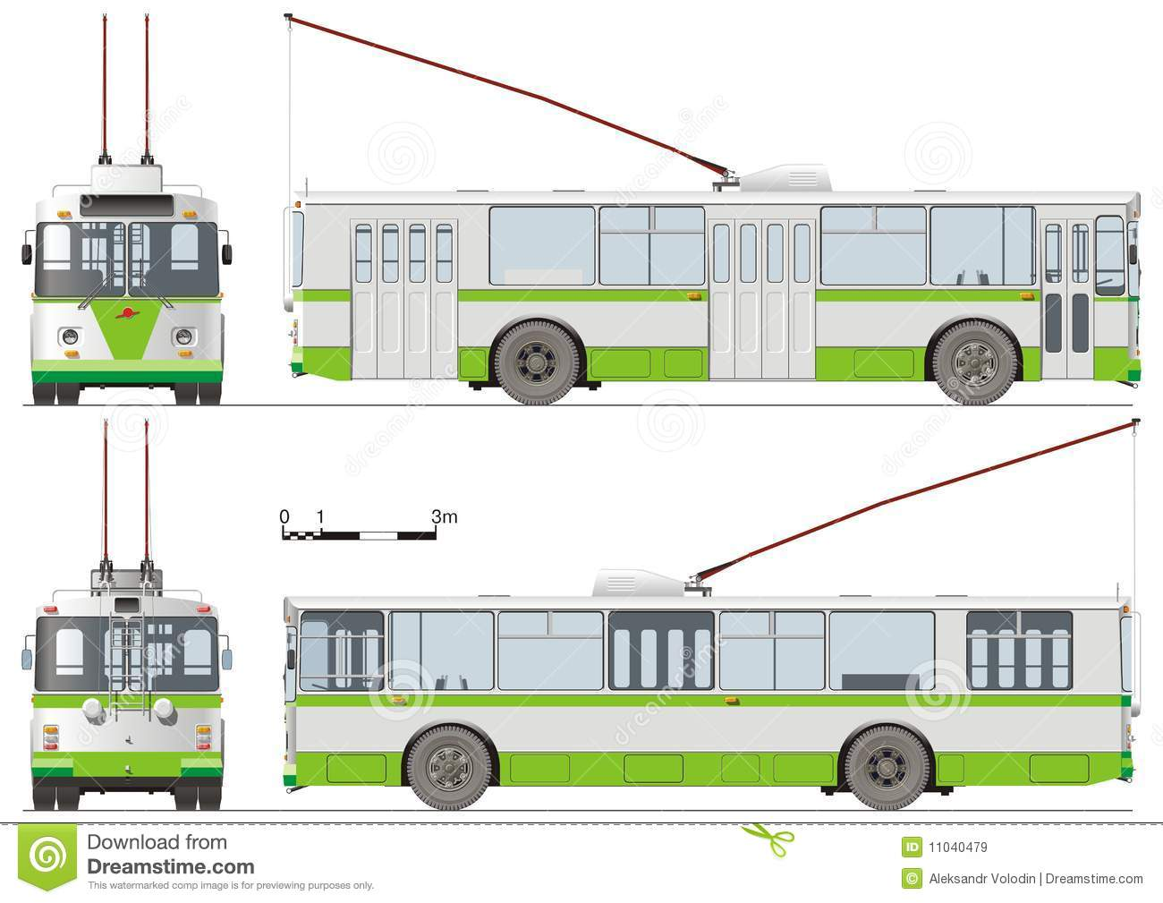 Trolleybus Stock Illustrations.