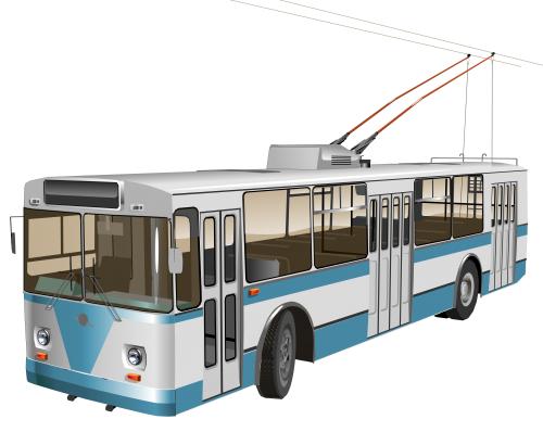 Trolleybus PNG Clipart.