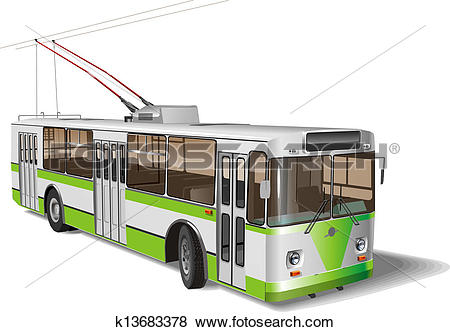 Clip Art of City trolleybus k13683378.