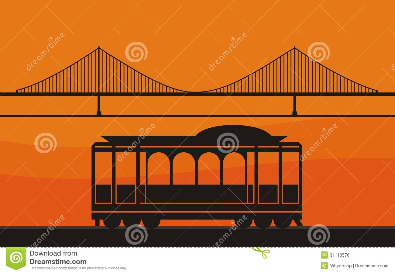 Trolley Car Clipart.