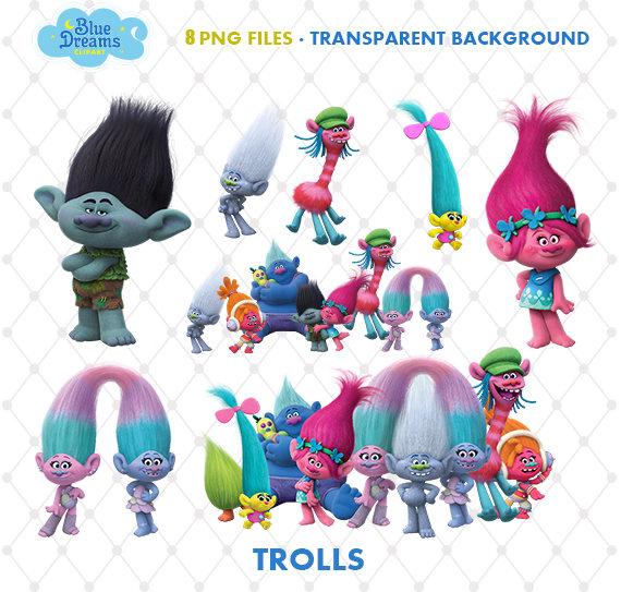 Trolls Clipart, PNG Clip Art Files, Trolls Printable Images.