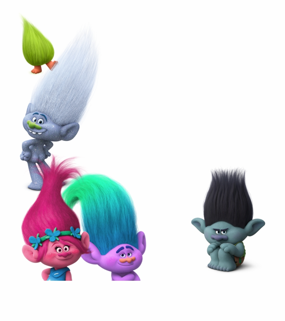 Trolls With No Background.