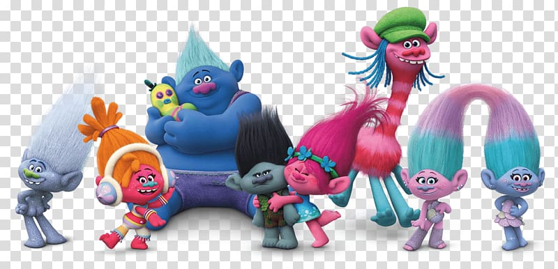 Trolls characters , Trolls Group transparent background PNG.