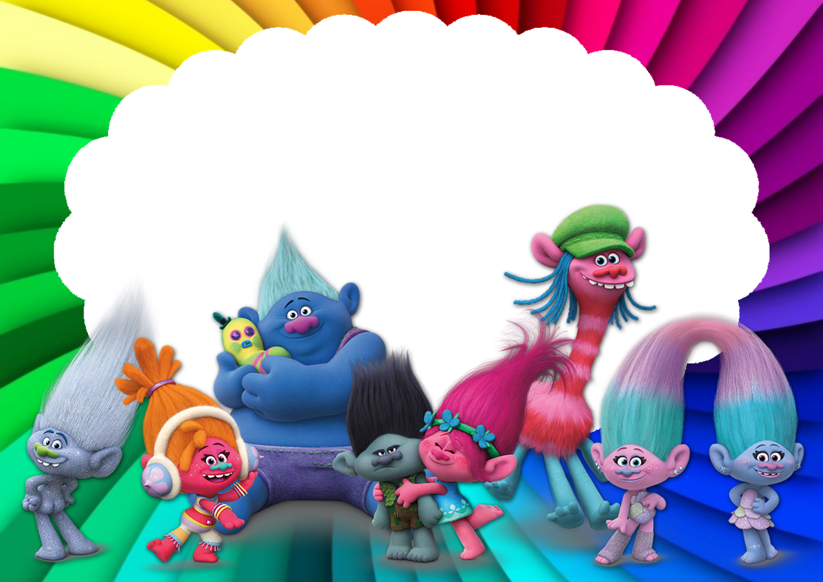 Download Trolls Convite PNG Image with No Background.