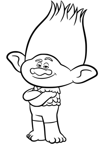 Branch from Trolls coloring page.