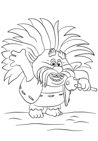 DreamWorks Trolls coloring pages.