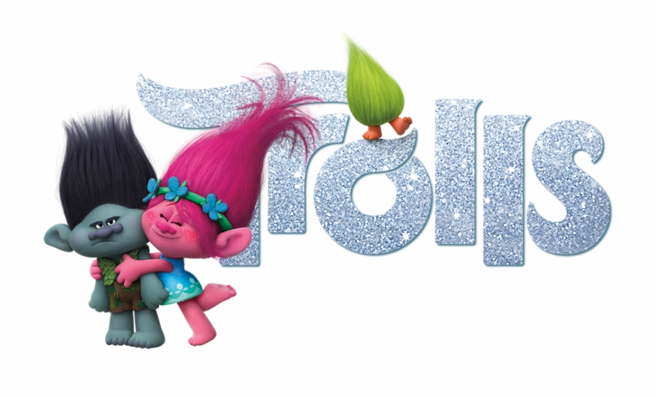 Trolls Movie With Logo Png.